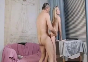Dirty as fuck granddaughter gives a good blowjob