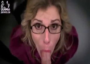 Glamorous stepmom sucks my dick like a professional