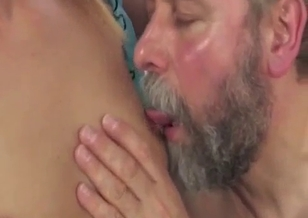 Grandpa and young cutie have a nice oral incest